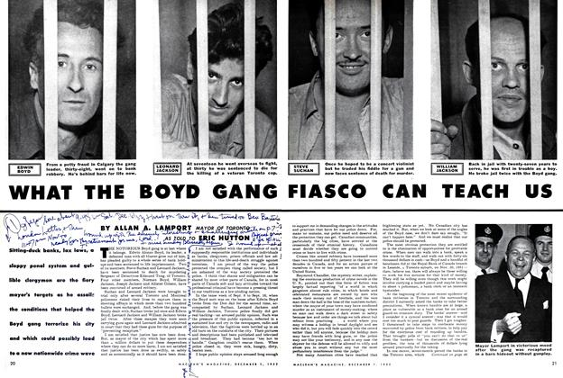 Article Preview: WHAT THE BOYD GANG FIASCO CAN TEACH US, December 1952 | Maclean's