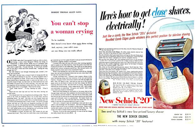 Article Preview: You can't stop a woman crying, December 1952 | Maclean's