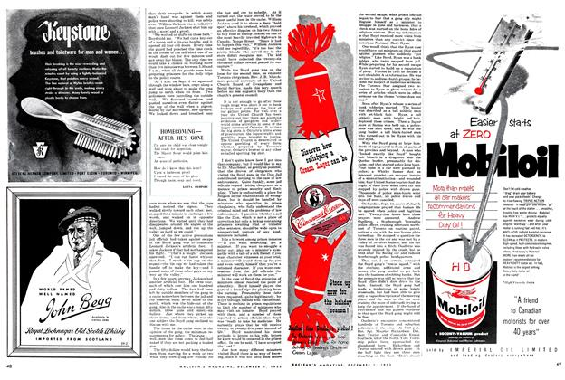 Article Preview: HOMECOMING — AFTER HE'S GONE, December 1952 | Maclean's
