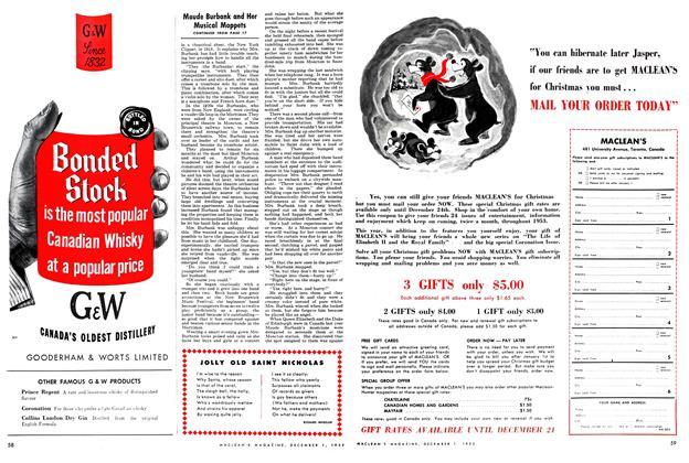 Article Preview: JOLLY OLD SAINT NICHOLAS, December 1952 | Maclean's