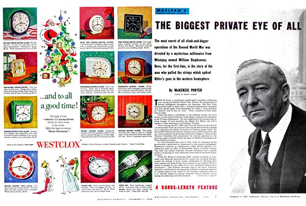 Article Preview: THE BIGGEST PRIVATE EYE OF ALL, December 1952 | Maclean's