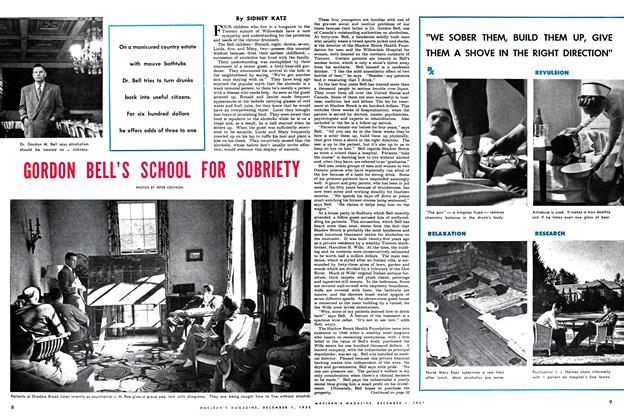 Article Preview: GORDON BELL'S SCHOOL FOR SOBRIETY, December 1952 | Maclean's