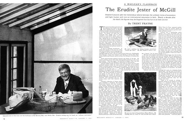 Article Preview: The Erudite Jester of McGill, January 1953 | Maclean's
