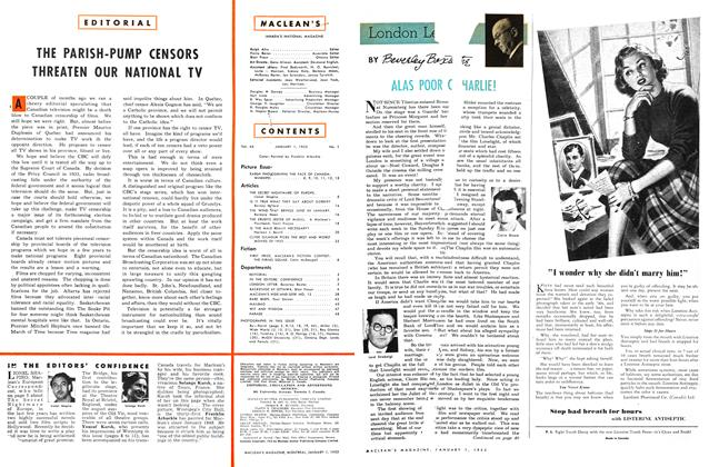 Article Preview: LONDON LETTER, January 1953 | Maclean's