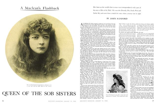 Article Preview: QUEEN OF THE SOB SISTER, January 1953 | Maclean's
