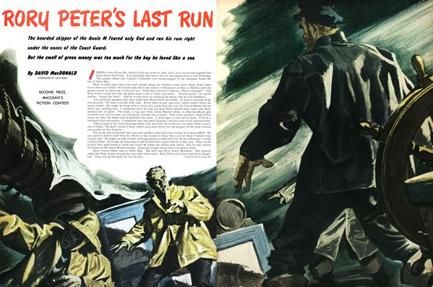 Article Preview: RORY PETER'S LAST RUN, January 1953 | Maclean's