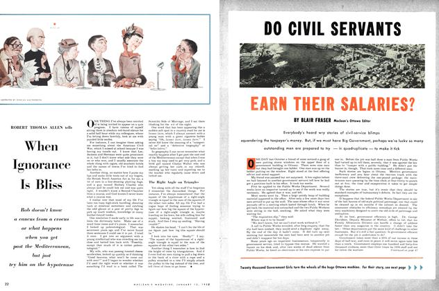 Article Preview: When Ignorance Is Bliss, January 1953 | Maclean's