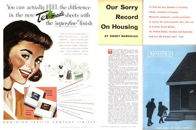 Article Preview: Our Sorry Record On Housing, January 1953 | Maclean's