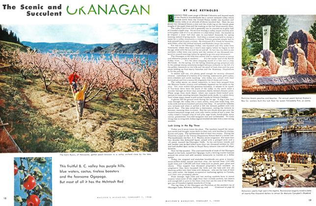 Article Preview: The Scenic and Succulent OKANAGAN, February 1953 | Maclean's