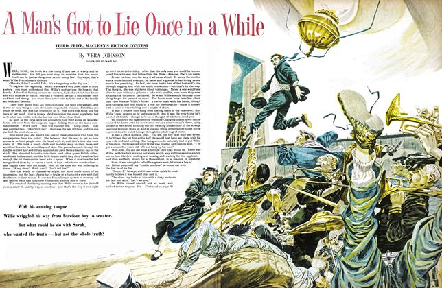 Article Preview: A Man's Got to Lie Once in a While, February 1953 | Maclean's