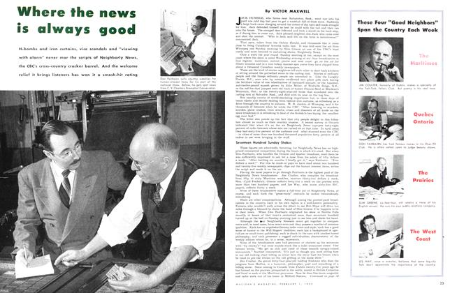 Article Preview: Where the news is always good, February 1953 | Maclean's