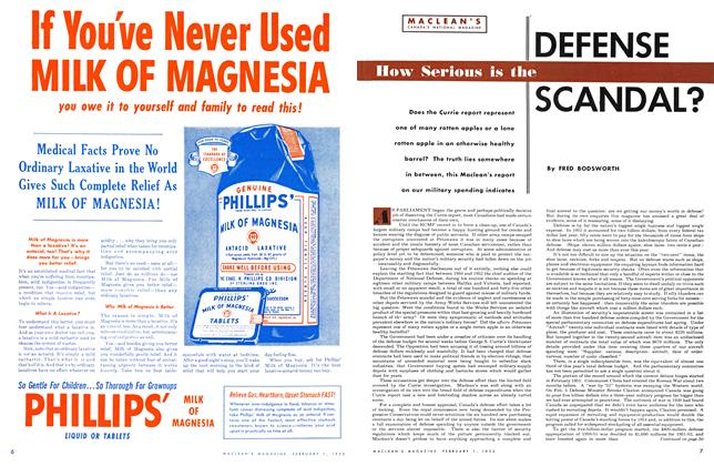 Article Preview: How Serious is the DEFENSE SCANDAL?, February 1953 | Maclean's