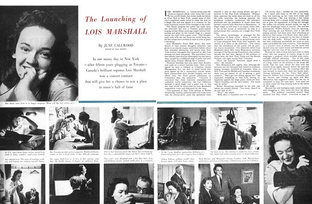 Article Preview: The Launching of LOIS MARSHALL, February 1953 | Maclean's