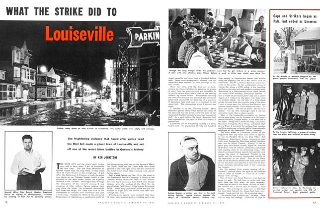 Article Preview: WHAT THE STRIKE DID TO Louiseville, February 1953 | Maclean's