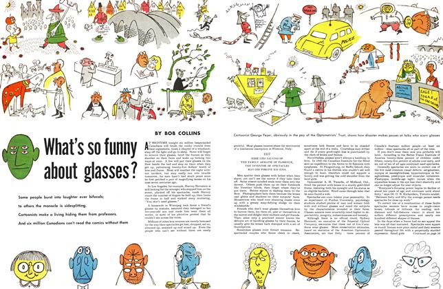 Article Preview: What's so funny about glasses ?, February 1953 | Maclean's
