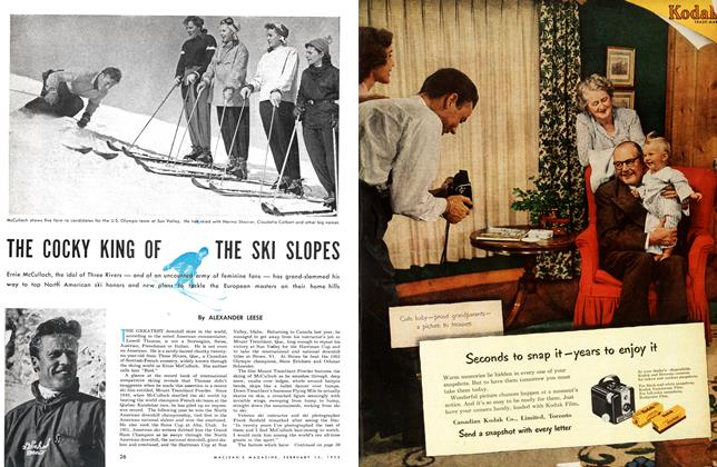 Article Preview: THE COCKY KING OF THE SKI SLOPES, February 1953 | Maclean's