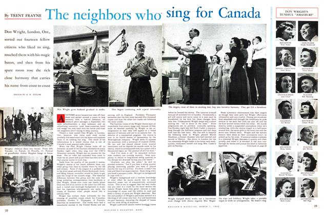 Article Preview: The neighbors Who sing for Canada, March 1953 | Maclean's