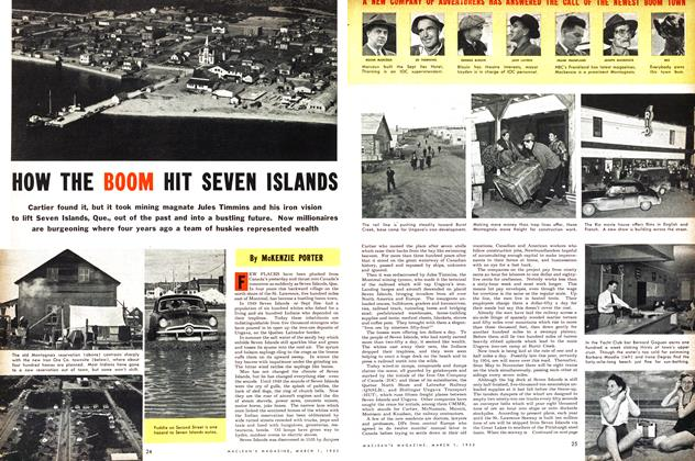 Article Preview: HOW THE BOOM HIT SEVEN ISLANDS, March 1953 | Maclean's