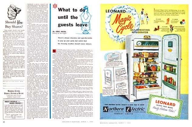 Article Preview: What to do until the guests leave, March 1953 | Maclean's