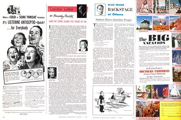 Article Preview: London Letter, March 1953 | Maclean's