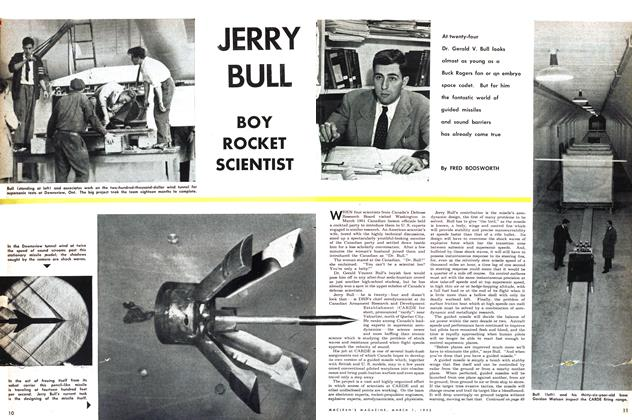 Article Preview: JERRY BULL BOY ROCKET SCIENTIST, March 1953 | Maclean's