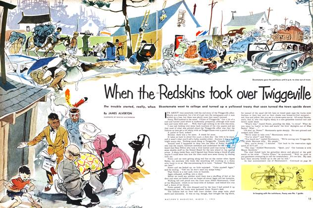 Article Preview: When the Redskins took over Twiggeville, March 1953 | Maclean's
