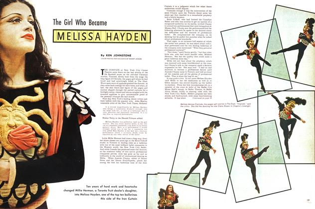 Article Preview: The Girl Who Became MELISSA HAYDEN, March 1953 | Maclean's