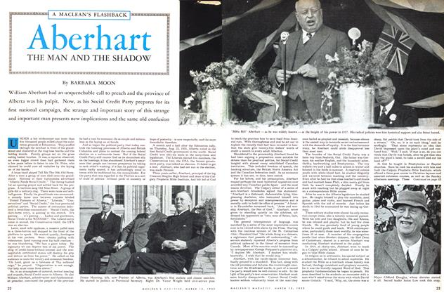 Article Preview: Aberhart THE MAN AND THE SHADOW, March 1953 | Maclean's
