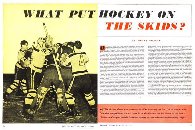 Article Preview: WHAT PUT HOCKEY ON THE SKIDS ?, March 1953 | Maclean's