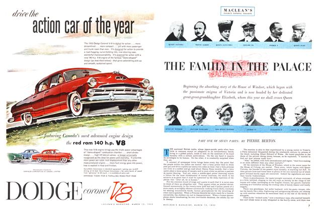 Article Preview: THE FAMILY IN THE PALACE, March 1953 | Maclean's