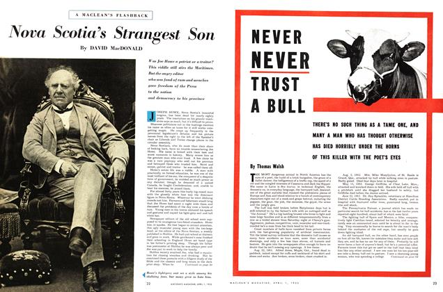 Article Preview: Nova Scotia's Strangest Son, April 1953 | Maclean's
