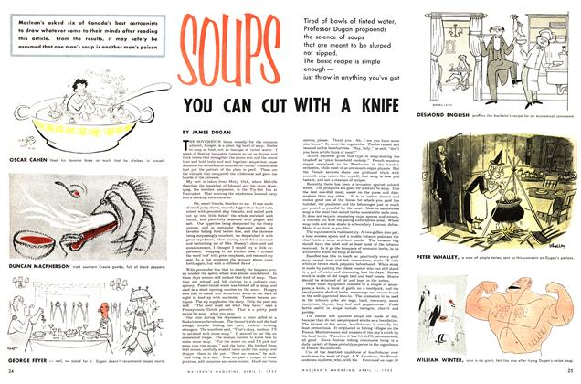 Article Preview: SOUPS YOU CAN CUT WITH A KNIFE, April 1953 | Maclean's
