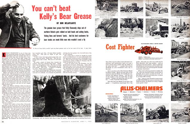Article Preview: You can't beat Kelly's Bear Grease, April 1953 | Maclean's
