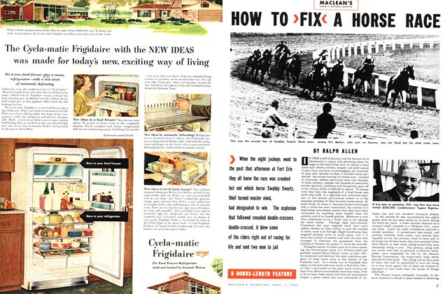 Article Preview: HOW TO FIX A HORSE RACE, April 1953 | Maclean's