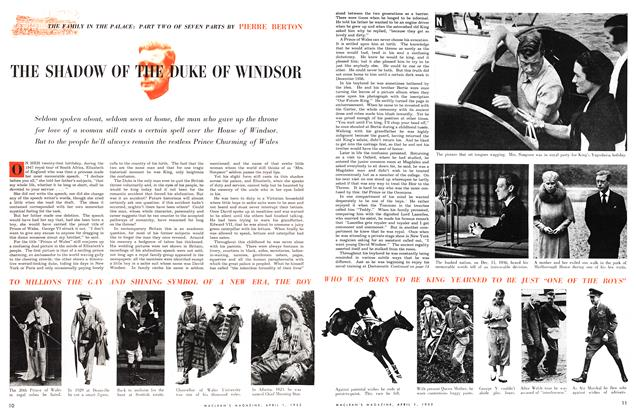 Article Preview: THE SHADOW OF THE DUKE OF WINDSOR, April 1953 | Maclean's