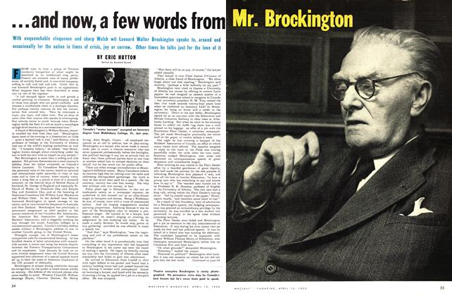 Article Preview: ...and now, a few words from, April 1953 | Maclean's