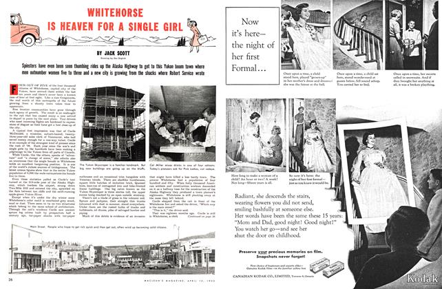 Article Preview: WHITEHORSE IS HEAVEN FOR A SINGLE GIRL, April 1953 | Maclean's