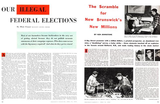 Article Preview: The Scramble for New Brunswick's New Millions, April 1953 | Maclean's