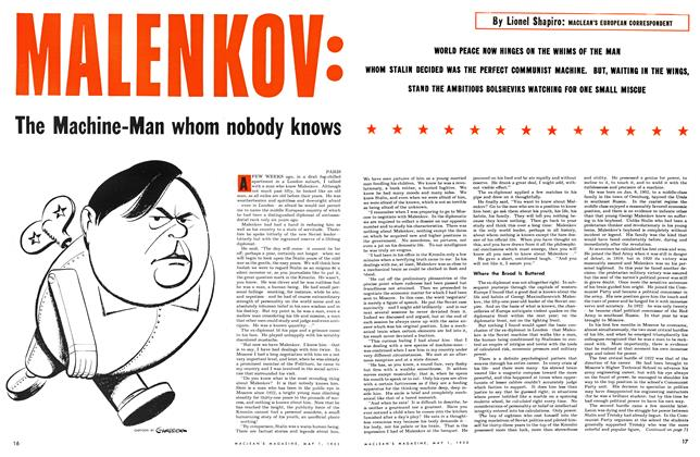 Article Preview: MALENKOV: The Machine-Man whom nobody knows, May 1953 | Maclean's