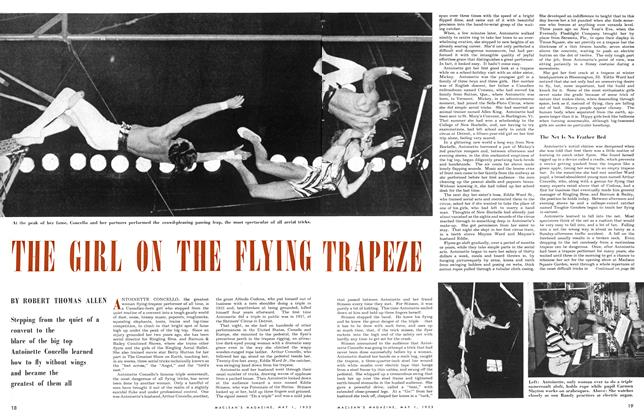 Article Preview: THE GIRL ON THE FLYING TRAPEZE, May 1953 | Maclean's