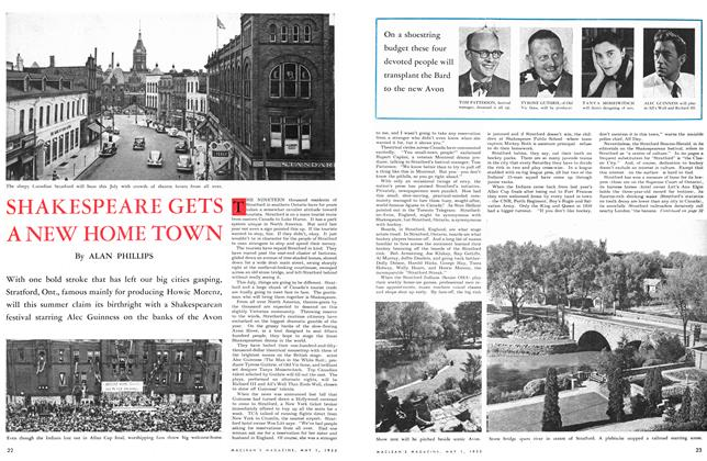 Article Preview: SHAKESPEARE GETS A NEW HOME TOWN, May 1953 | Maclean's