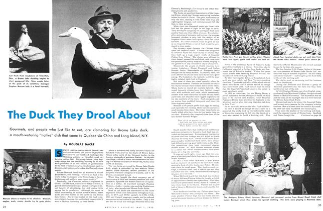 Article Preview: The Duck They Drool About, May 1953 | Maclean's