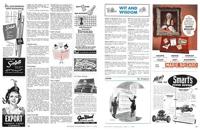 Article Preview: WIT AND WISDOM, May 1953 | Maclean's