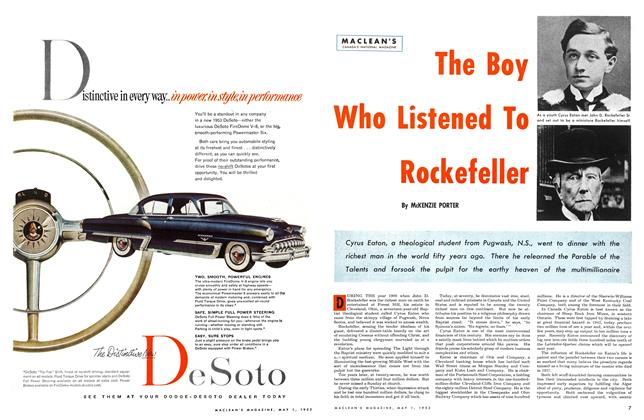 Article Preview: The Boy Who Listened To Rockefeller, May 1953 | Maclean's