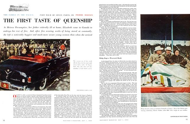 Article Preview: THE FAMILY IN THE PALACE: THE FIRST TASTE OF QUEENSHIP, May 1953 | Maclean's