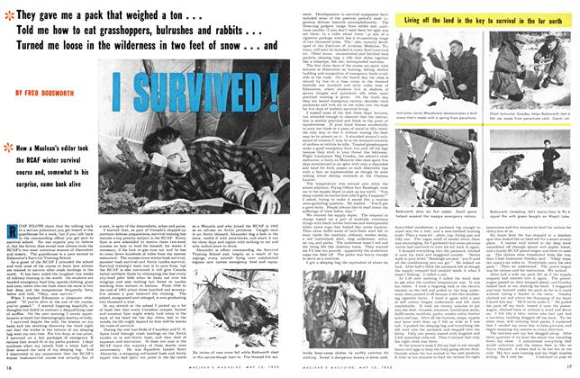 Article Preview: I SURVIVED!, May 1953 | Maclean's