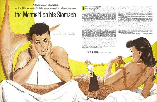 Article Preview: the Mermaid on his Stomach, May 1953 | Maclean's