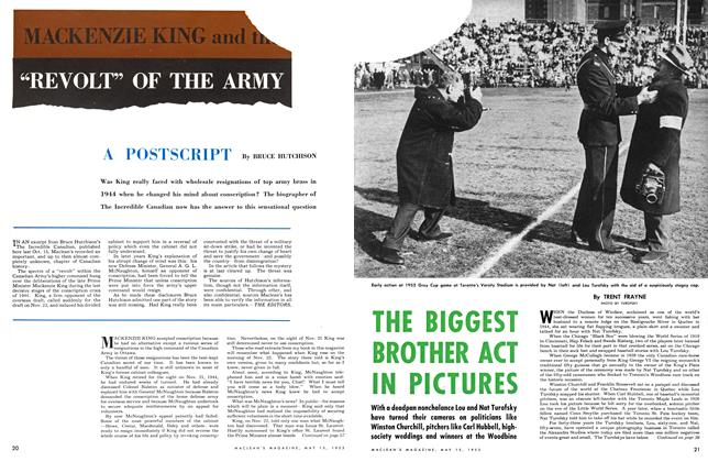"Article Preview: MACKENZIE KING AND THE""REVOLT"" OF THE ARMY, May 1953 