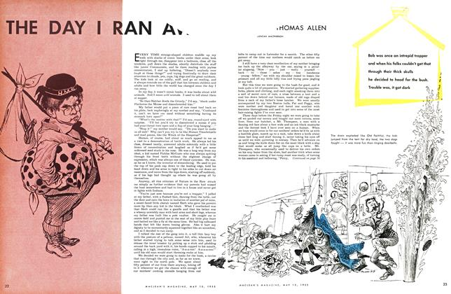 Article Preview: THE DAY I RAN AWAY, May 1953 | Maclean's
