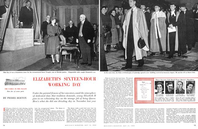 Article Preview: Elizabeth's Sixteen-Hour Working Day, May 1953 | Maclean's